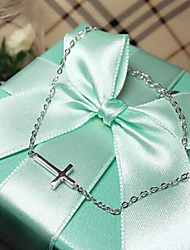 cheap -925 Stering Silver Bracelets 1pc Cross Inspirational Bracelet Fashion Christmas Gift Love BraceletJewelry