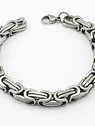 cheap -Fashion Men's The Great Wall Pattern 316L Stainless Steel Chain Bracelets Christmas Gifts