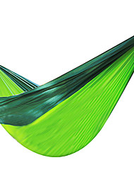 cheap -Camping Hammock Outdoor Moistureproof, Well-ventilated, Ultra Light (UL) Nylon for Hunting / Hiking / Fishing - 2 person Green / Yellow /