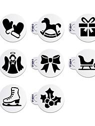 abordables -8 Horneando decoración de pasteles / Alta calidad / Ecológico / Nueva llegada Pastel / Galleta Plástico Moldes para horno