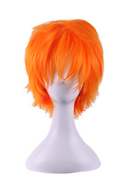 cheap -Costume Wigs / Synthetic Wig Straight / Natural Wave Asymmetrical Haircut Natural Hairline Golden Women's Capless Natural Wigs / Costume