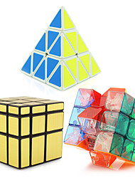 cheap -Rubik's Cube Pyramid / Alien / Mirror Cube 3*3*3 Smooth Speed Cube Magic Cube Puzzle Cube Professional Level / Speed Tower Gift Classic & Timeless Girls'