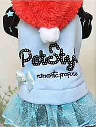 abordables -Chien Pulls à capuche Combinaison-pantalon Robe Vêtements pour Chien Garder au chaud Lettre et chiffre Bleu Rose Costume Pour les animaux