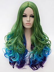 cheap -Costume Wigs / Synthetic Wig Green Women's Capless Capless Wig Very Long Synthetic Hair