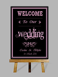 cheap -E-HOME Personalized Custom Wedding Desktop Indicator Wedding Gift Decoration Custom Name And Date (Contain Wood Easel)