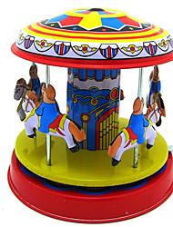 Недорогие -Игрушка с заводом Устройства для снятия стресса Игрушки Ретро Оригинальные Круглый Лошадь Карусель Железо Металл Винтаж Ретро 1 Куски