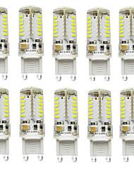 cheap -10PCS G9 57SMD 3014 2.5W 200-250LM Warm White/White /Natural White DC/AC10-20V LED Bi-pin
