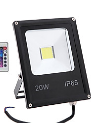 cheap -1pc 20 W LED Floodlight / Lawn Lights Remote Controlled / Waterproof / Decorative RGB 85-265 V Outdoor Lighting / Courtyard / Garden