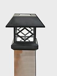 abordables -blanc casquette de poste solaire pont lumière clôture montage lampe de clôture de jardin en plein air