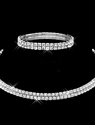 cheap -Women's Imitation Diamond Jewelry Set - Fashion Double-layer Stretch Circle Jewelry Set Bracelet Band Ring For Wedding Party Daily Casual