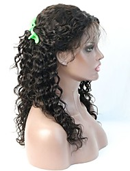 cheap -Hot Selling Deep Wave Human Hair Glueless Illusion Lace Front Wig/Full Lace Wig With More Baby Hair
