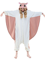 cheap -Kigurumi Pajamas Squirrel Flying Squirrel Onesie Pajamas Costume Polar Fleece Pink Cosplay For Adults' Animal Sleepwear Cartoon Halloween