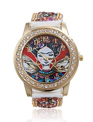 cheap -Women/Lady's Cute Special Artist Case Acrylic Beads Leather Band Fashion Watch