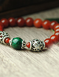 Strand Bracelets 1pc,Red Bracelet Fashionable Circle 514 Agate Jewellery