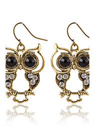 cheap -New Fashion Trendy Black Eyes Owl Earrings Hollow Animal Earrings For Women Jewelry Pendientes Mujer Wholesale