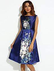 cheap -Women's Street chic A Line Dress - Print Flower