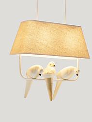 Недорогие -2-Light Подвесные лампы Торшер Окрашенные отделки Металл Ткань Мини 110-120Вольт / 220-240Вольт Теплый белый / Белый Лампочки включены / E26 / E27