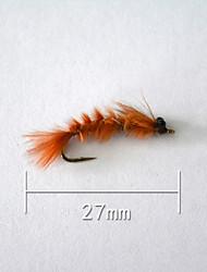 """500 pcs leurres de pêche Poissons nageur/Leurre dur Orange g/Once,27 mm/1"""" pouce,Plastique souple Pêche d'appât"""
