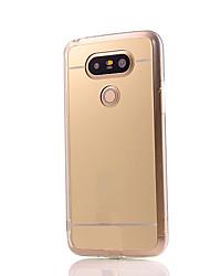 baratos -Capinha Para LG / LG G5 Capinha LG Galvanizado / Espelho Capa traseira Sólido Rígida Acrílico para