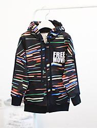 cheap -Boys' Daily Clothing Set, Cotton Spring Fall Long Sleeves Cartoon Black