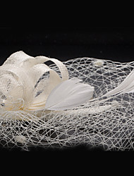 Lace Feather Fabric Fascinators Headpiece