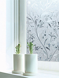 cheap -Window Film Window Decals Style Enchanting Bouquet PVC Window Film - (100 x 45)cm