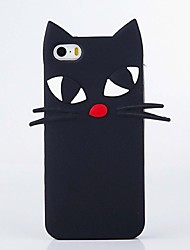 cheap -The New Tropia Long Beard Black Cat Soft Shell for iPhone5/5S/SE/6/6s/6 Plus/6S Plus