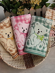 Double Fabric Made Of Pure Cotton Jacquard Large Bear Child-towel