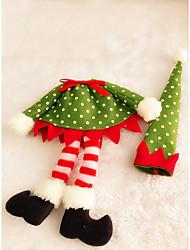 punto dell'onda elfi vestiti bottiglia di vino da tavola copertura rifornimenti decorazione della casa del partito 1pc di Natale