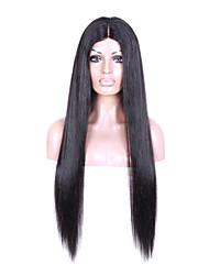 Grade 9A Human Hair Full Lace Wig Long Straight Natural Black Color Hair 100% Malaysian Virgin Hair Lace Wig For Fashion Woman