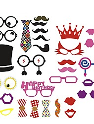 31 Pcs Party Photo Booth Props Holiday Decorations Party MasksCool For Birthday Party