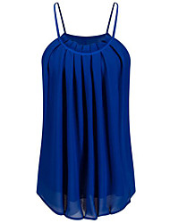 cheap -Women's Going out / Daily Pleated All Match Off-The-Shoulder Casual Summer Tank Top