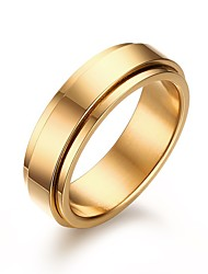 cheap -Men's Stainless Steel Ring Simple Rotating Golden Wedding / Party / Daily / Casual 1pc Band Rings Christmas Gifts
