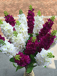 preiswerte -1 1 Ast Polyester / Kunststoff Lila Tisch-Blumen Künstliche Blumen 31.4inch/80cm