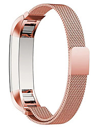 preiswerte -Kaffee / Schwarz / Blau / Rose / Gold / Silber Edelstahl Mailänder Schleife Für Fitbit Uhr 10mm