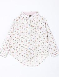 preiswerte -Bluse Alltag Baumwolle Herbst Weiß