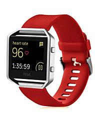 Недорогие -Красный / Черный / Белый / Зеленый / Синий / Розовый / Фиолетовый силиконовый Спортивный ремешок Для Fitbit Смотреть 23мм