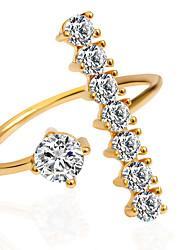 preiswerte -Damen Statement-Ring Silber Golden Gold/Rosa Aleación Modisch Hochzeit Party Modeschmuck