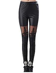 Pantalon Punk Cosplay Vêtrements Lolita Noir Imprimé Pour Térylène