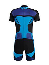 abordables -ILPALADINO Maillot de Ciclismo con Shorts Hombre Unisex Manga Corta Bicicleta Sets de Prendas Secado rápido Resistente a los UV