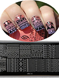 cheap -1pcs 12*6CM Nail Art Stamping Plate With High Quality Backplane Design Colorful Image Nail Tools Les Cool01-05