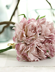 cheap -1PC Household Artificial Flowers Sitting Room Adornment  Flowers  Polyester  Peony Artificial Flowers