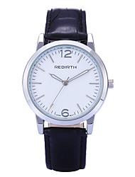 levne -REBIRTH Dámské Křemenný Náramkové hodinky / Žhavá sleva PU Kapela Na běžné nošení Minimalistické Módní Černá Červená Hnědá