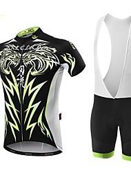 Недорогие -Malciklo Велокофты и велошорты-комбинезоны Муж. Короткие рукава Велоспорт Наборы одеждыБыстровысыхающий Передняя молния Пригодно для