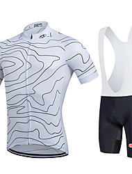 Fastcute Cycling Jersey with Bib Shorts Men's Women's Kid's Unisex Short Sleeves Bike Bib Shorts Sweatshirt Jersey Bib Tights Clothing