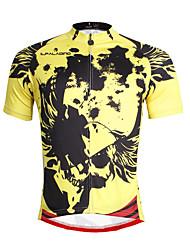 abordables -ILPALADINO Homme Manches Courtes Maillot de Cyclisme - Jaune Vélo Maillot, Séchage rapide, Résistant aux ultraviolets, Respirable