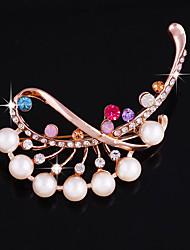 Недорогие -одна часть / розовое золото броши свадебная вечеринка элегантный женственный стиль