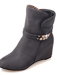 cheap -Women's Boots Fall / Winter Fashion Boots / Combat Boots / Round Toe Party & Evening / Dress / Casual Wedge Heel