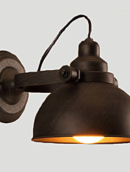 cheap -E27 23CM 10-15㎡ Loft, Wrought Iron Pot, Creative Vintage Wall Lamp Led Lights