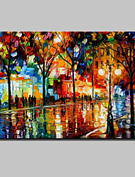 Modern Abstract Hand-painted Landscape Oil Paintings On Canvas Wall Art With Stretched Frame Ready To Hang